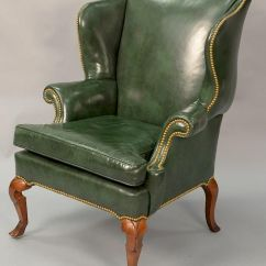 Queen Anne Wingback Chair Leather Covers For Sale In Sri Lanka Upholstered Style Wing By Nadeau 39 S Auction Gallery 586404 Bidsquare