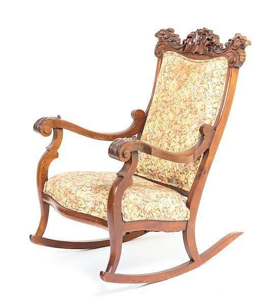 rocking chair height dxracer cover an american mahogany 43 1 2 inches by leslie hindman auctioneers 143578 bidsquare