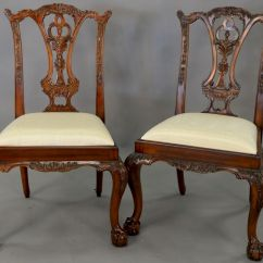 Maitland Smith Dining Chairs Truman Barber Chair Set Of Six Mahogany Chippendale Style With Ball And Claw Feet By Nadeau 39 S Auction Gallery 908420 Bidsquare