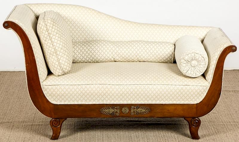 french empire style ormolu mounted chaise lounge