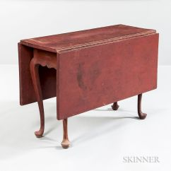 Painted Queen Anne Sofa Table Metro Review Red Drop Leaf By Skinner 1122509 Bidsquare