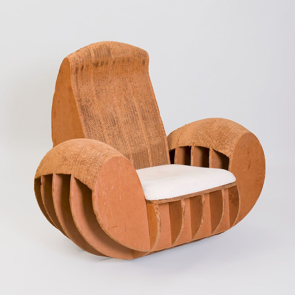 frank gehry chair outdoor cafe tables and chairs cardboard in the manner of by stair 1168996 bidsquare