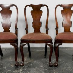 Queen Anne Style Chair Revolving Bangalore Dining Chairs With Ball Claw By Ahlers Ogletree Zoom