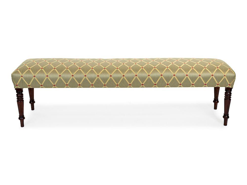 an english upholstered mahogany