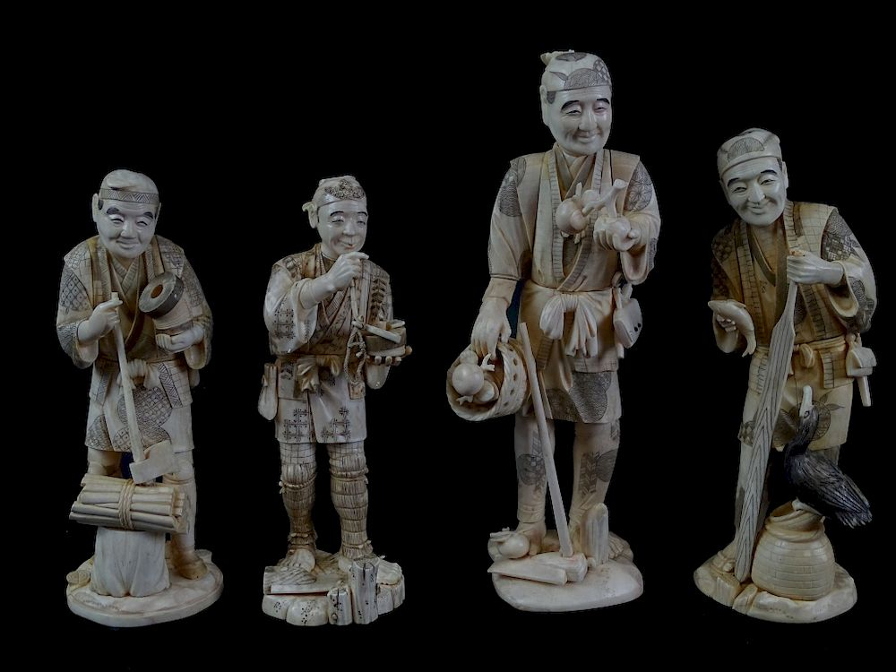 A Collection of Four Japanese Carvings