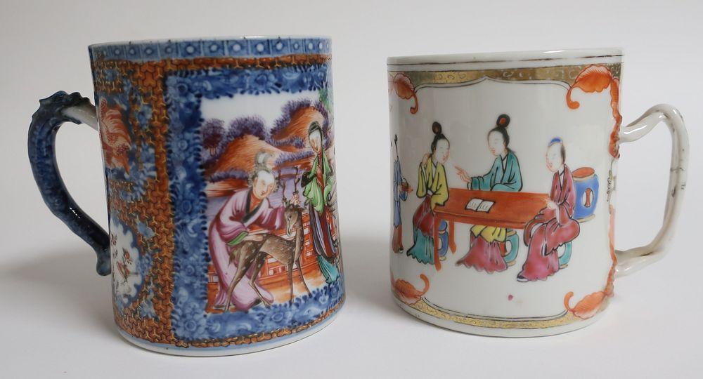 2 Chinese Export Mugs, 18th C.