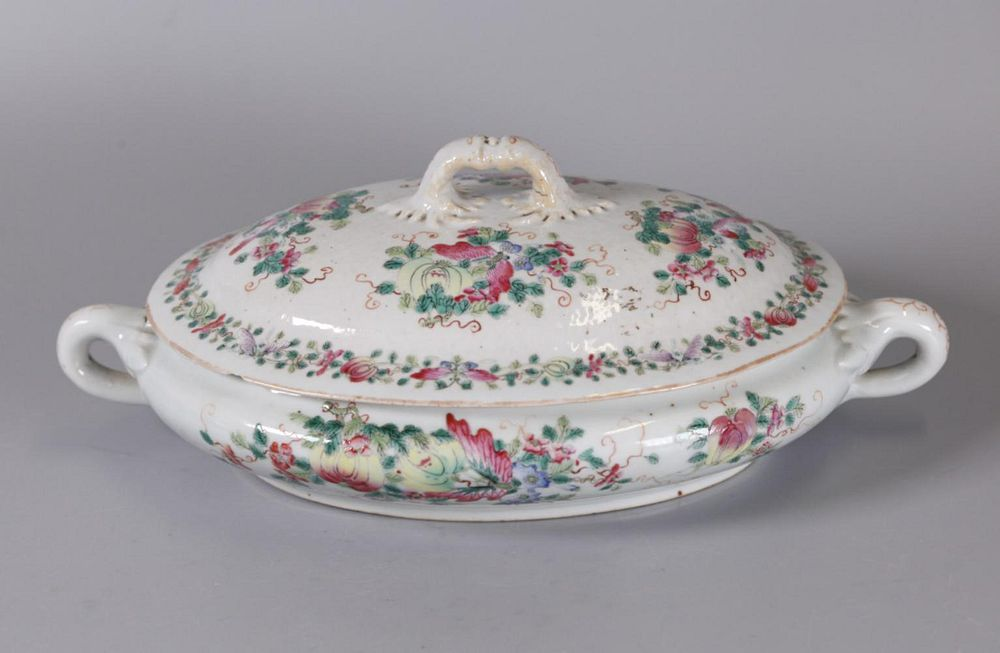 Chinese export porcelain soup tureen, possibly 19th c.