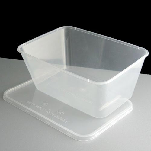1000ml Plastic Food Takeaway Containers Clear With Lids