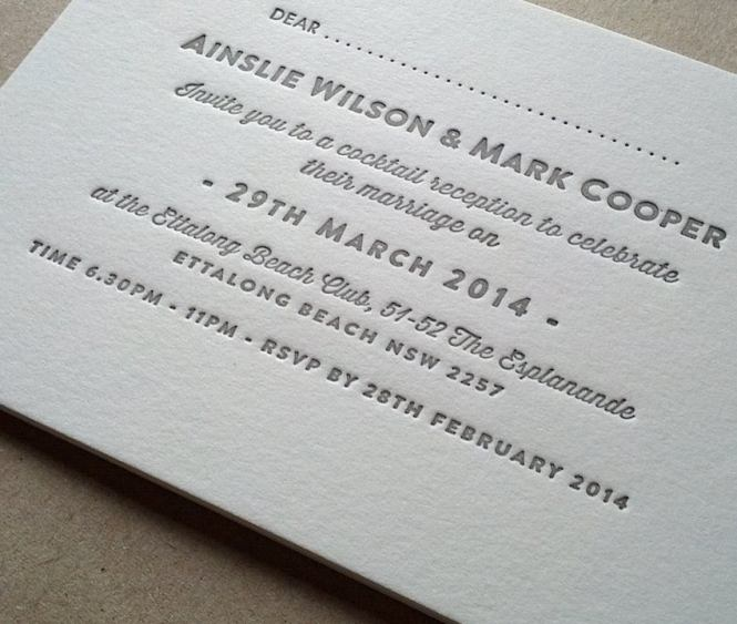 Image Of Letterpress Wedding Invitations Clic Design Available In 2 Sizes