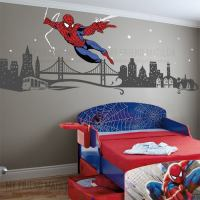 Spiderman Boys Wall Decal Themed Room Spider Man ...