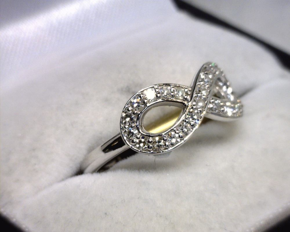 RG Jewelers  14K White Gold Diamond Infinity Ring