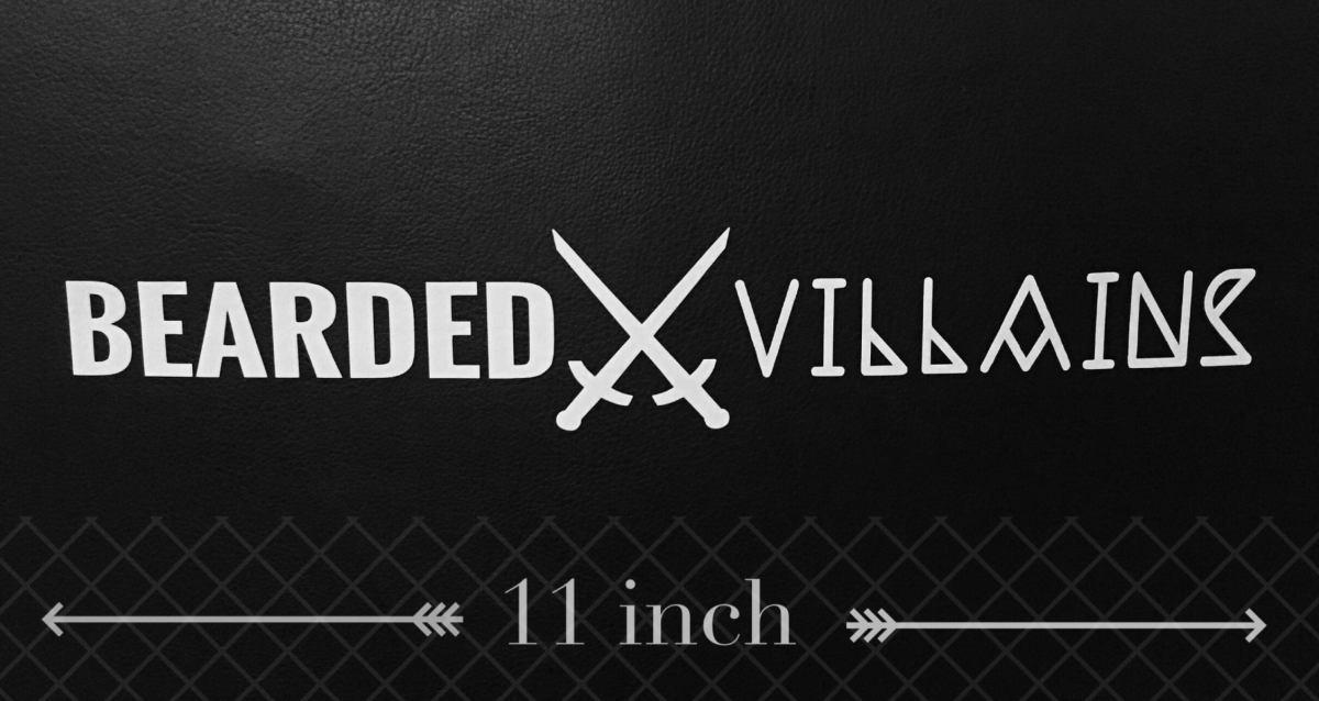 BEARDEDVILLAINS Logo Sticker  BEARDED VILLAINS