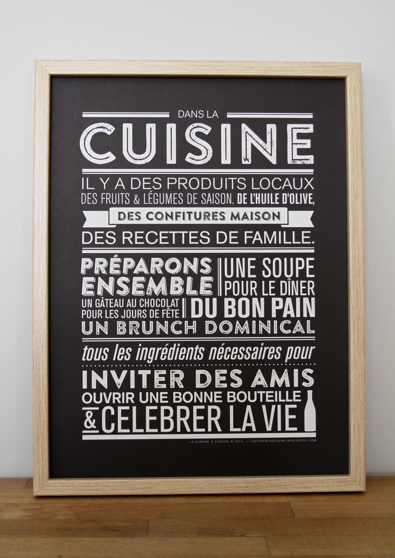 Affiche Pour Cuisine