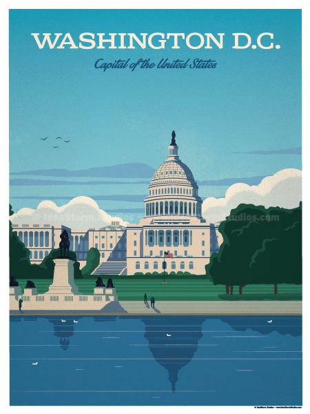 IdeaStorm Studio Store  Washington DC Capital Poster
