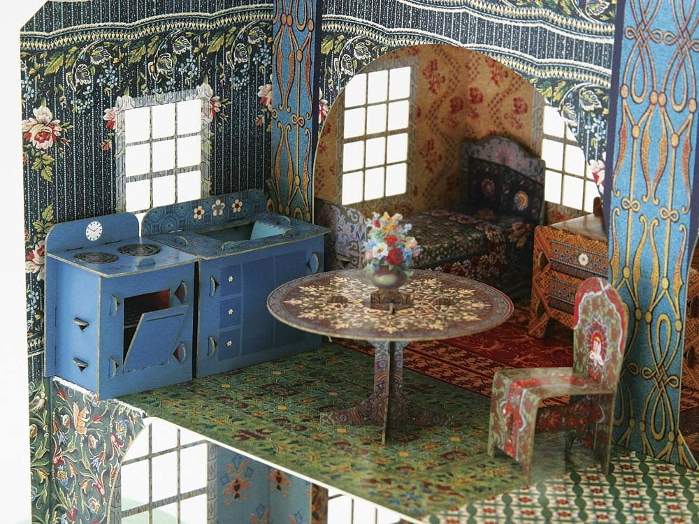 emily's dollhouse with accessories