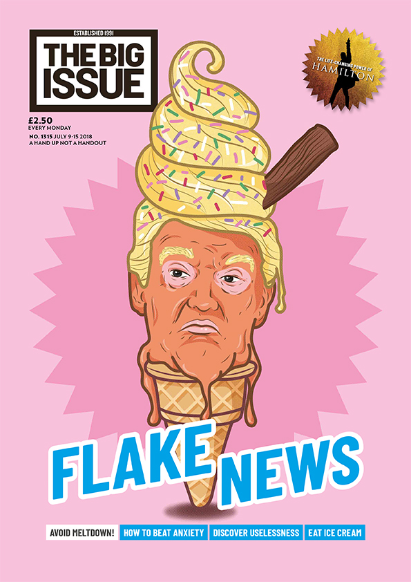 Flake News Avoid meltdown Beat Anxiety Discover Uselessness Eat Ice Cream  The Big Issue
