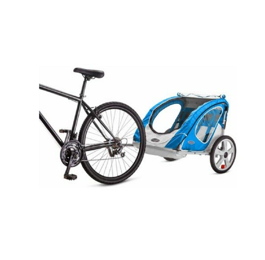 Kids Children Double Seater Bike Trailer Folding Frame
