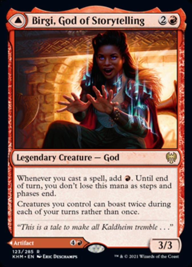 Birgi, God of Storytelling // Harnfel, Horn of Bounty