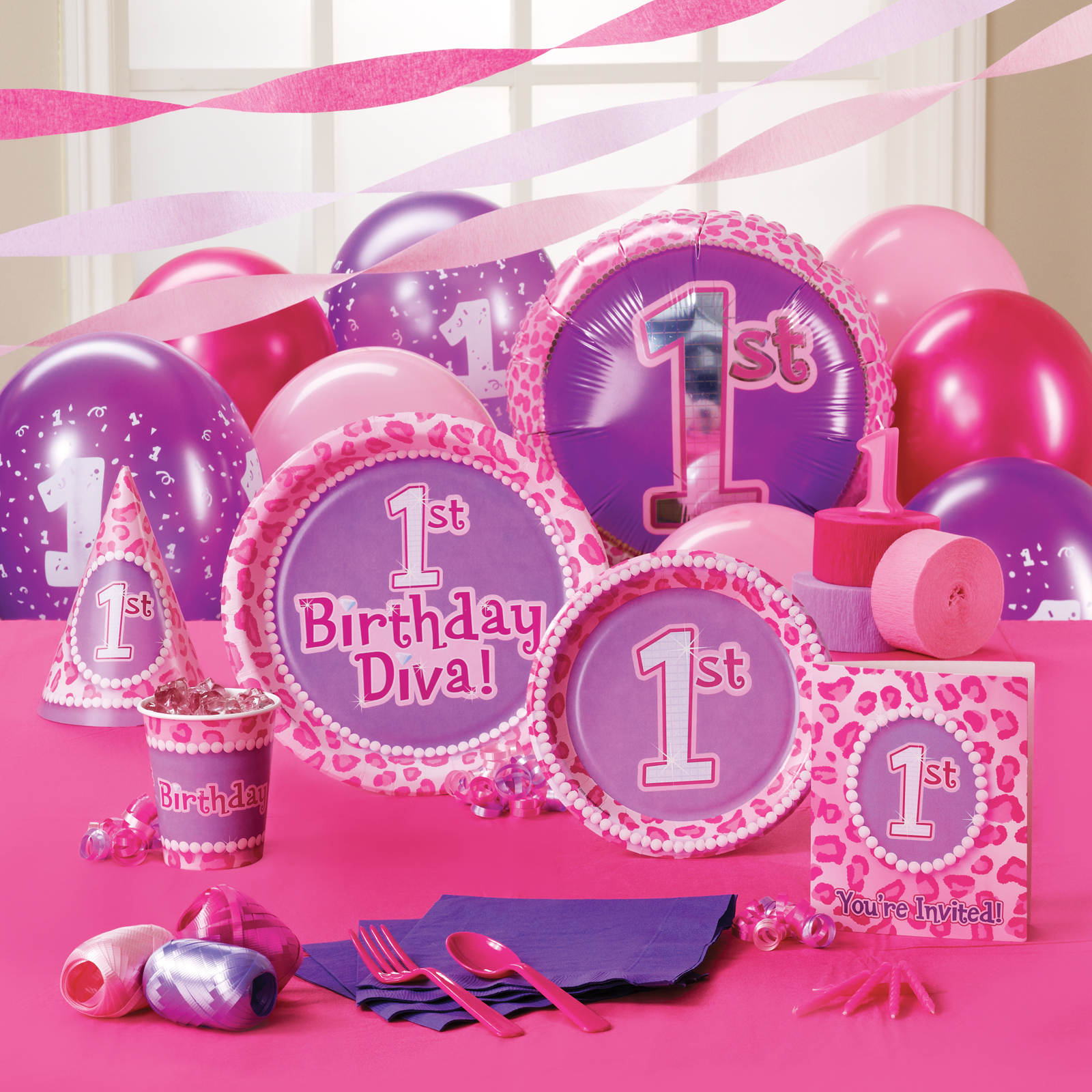 1st Birthday Diva Party Supplies