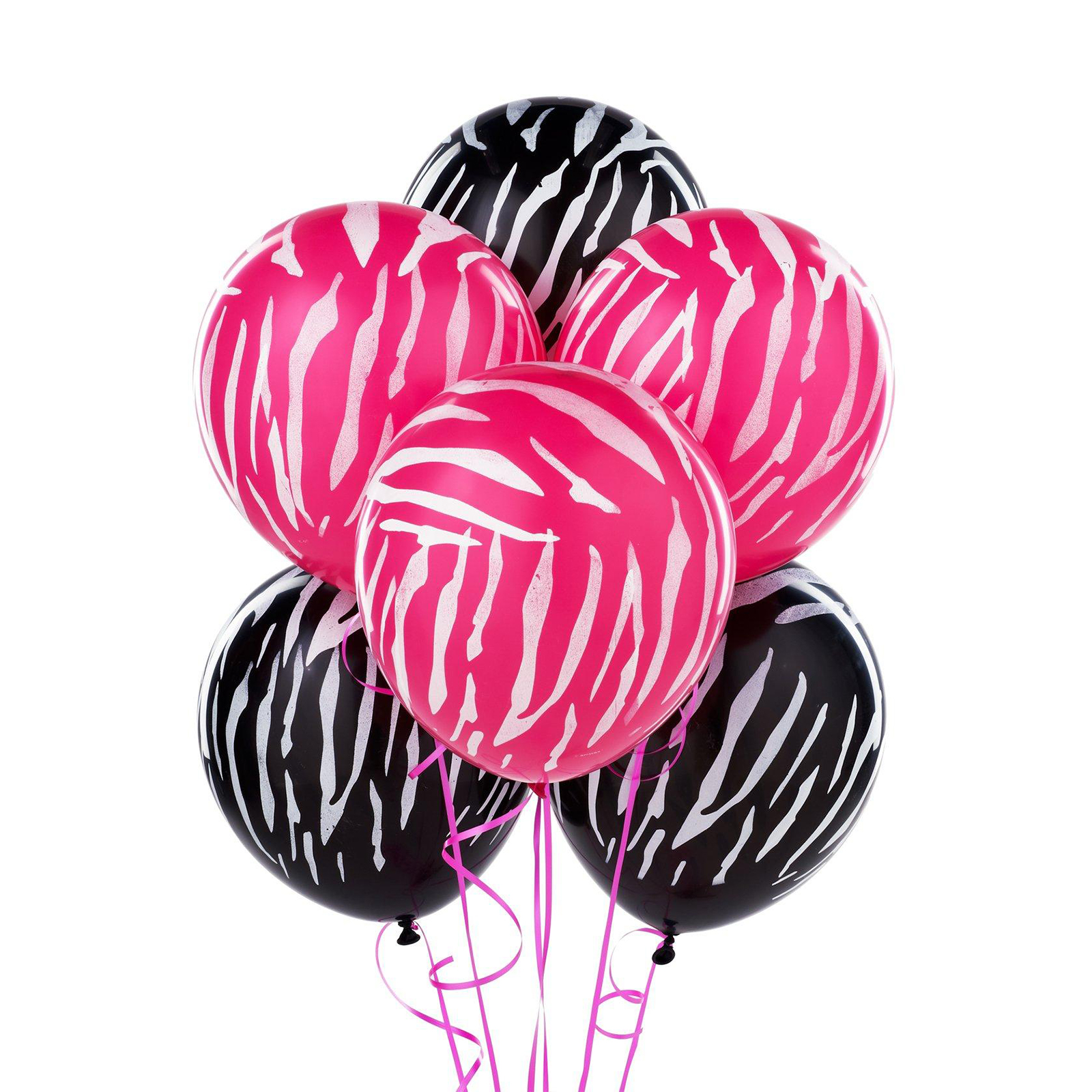 Pink and Black Zebra Print Balloons