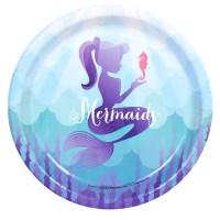 Mermaids Under the Sea Dinner Plates | BirthdayExpress.com