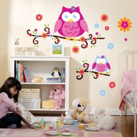 Owl Blossom Giant Wall Decals | BirthdayExpress.com