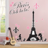 Paris Damask Giant Wall Decals | BirthdayExpress.com