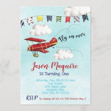 airplane birthday invitations