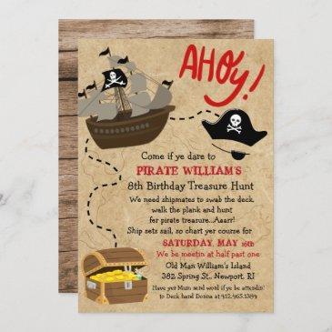 pirate birthday invitations