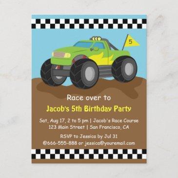 monster truck birthday invitations