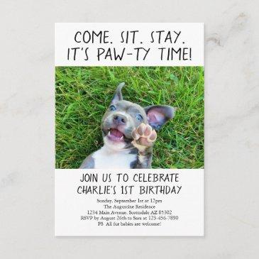 dog birthday invitations