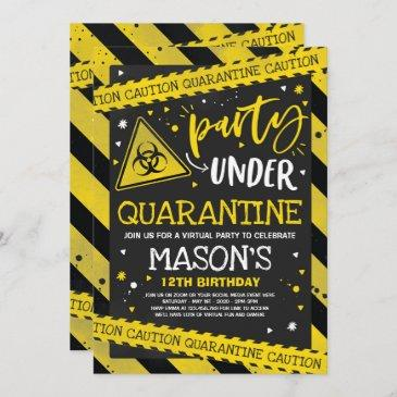 quarantine birthday invitations
