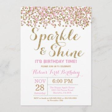 gold birthday invitations