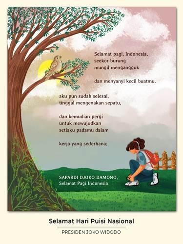 Pantun Tentang Corona 4 Baris : pantun, tentang, corona, baris, Cuitan, Jokowi, Puisi, Sapardi, Damono, Dibalas, Aktivis, Seperti, Kabar24, Bisnis.com