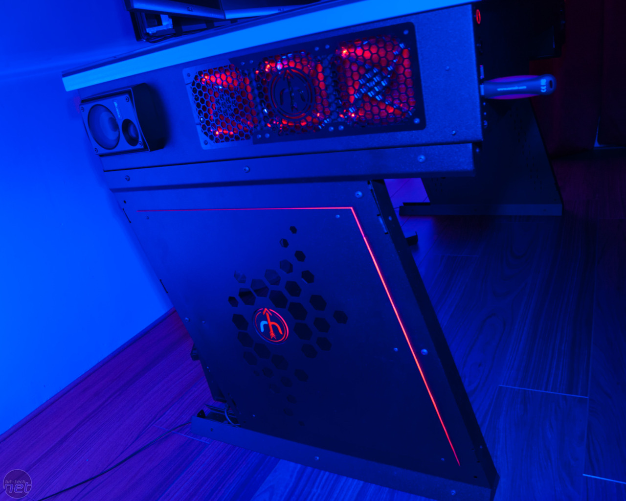 Red Harbinger Cross PC Desk available to preorder  bit