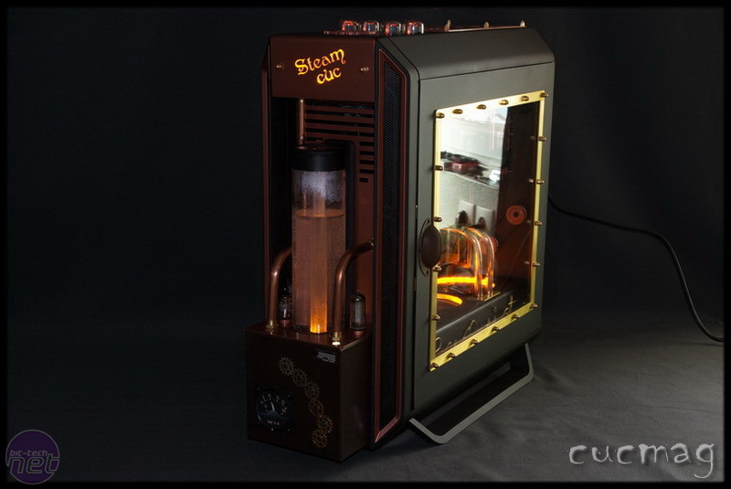 Steampunk case mod completed using BeQuiets new PC case
