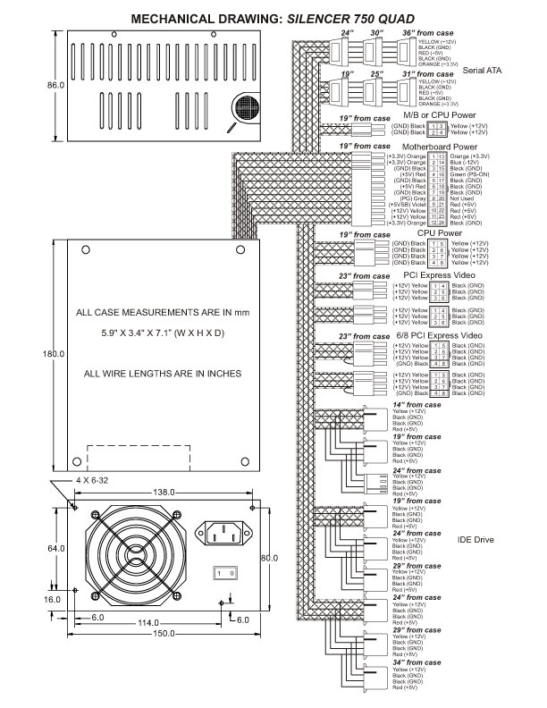PC Power & Cooling 750 Watt Quad Silencer Power Supply