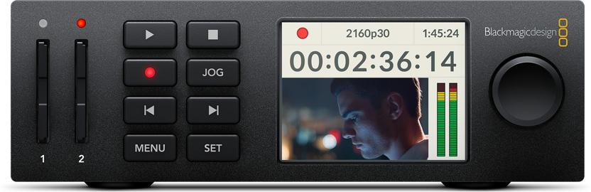 blackmagic HyperDeck Studio Mini : Familiar VTR Controls
