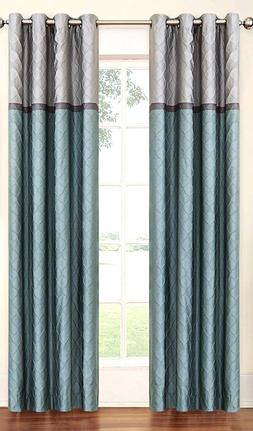 turquoise ellery homestyles eclipse 15946052084tuq tricia 52 inch by 84 inch thermal window panel pair home kitchen home decor