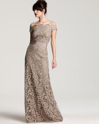 Off Shoulder Lace Bridesmaid Dress