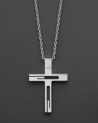 Gucci Sterling Silver Cross Necklace Bloomingdale S