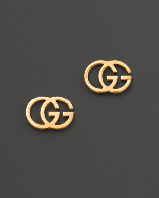 Gucci 18k Yellow Gold Running G Stud Earrings Bloomingdale S
