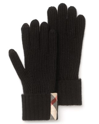 Burberry Ribbed Cashmere Touch Knit Gloves Bloomingdale'