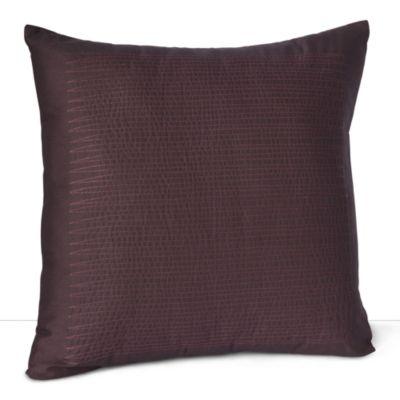 "Calvin Klein Home Elm Wine Decorative Pillow 18"" X 18"