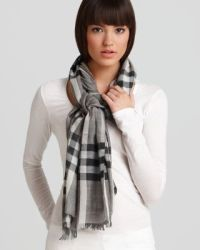 Burberry Giant Check Gauze Scarf   Bloomingdale's