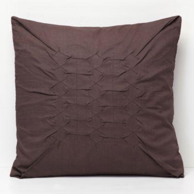 """Calvin Klein Gathered Diamond Pillow 18"""" X 18"""