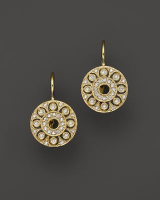 Kc Design Diamond Drop Earrings In 14k Yellow Gold .25