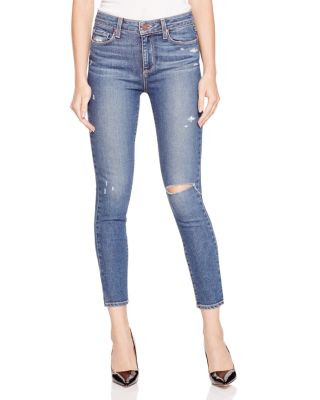 Paige Denim Hoxton Distressed Skinny Ankle Jeans in Toren Destructed | Bloomingdale's