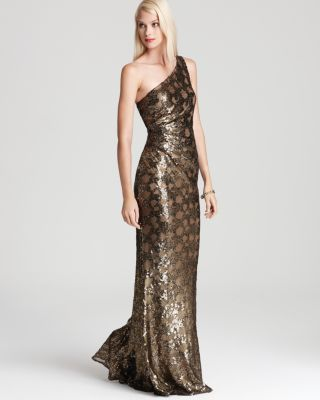 David Meister Shoulder Gown - Sequin Bloomingdale'