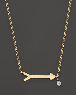 Meira T Arrow Necklace 002 Ct Tw Bloomingdales